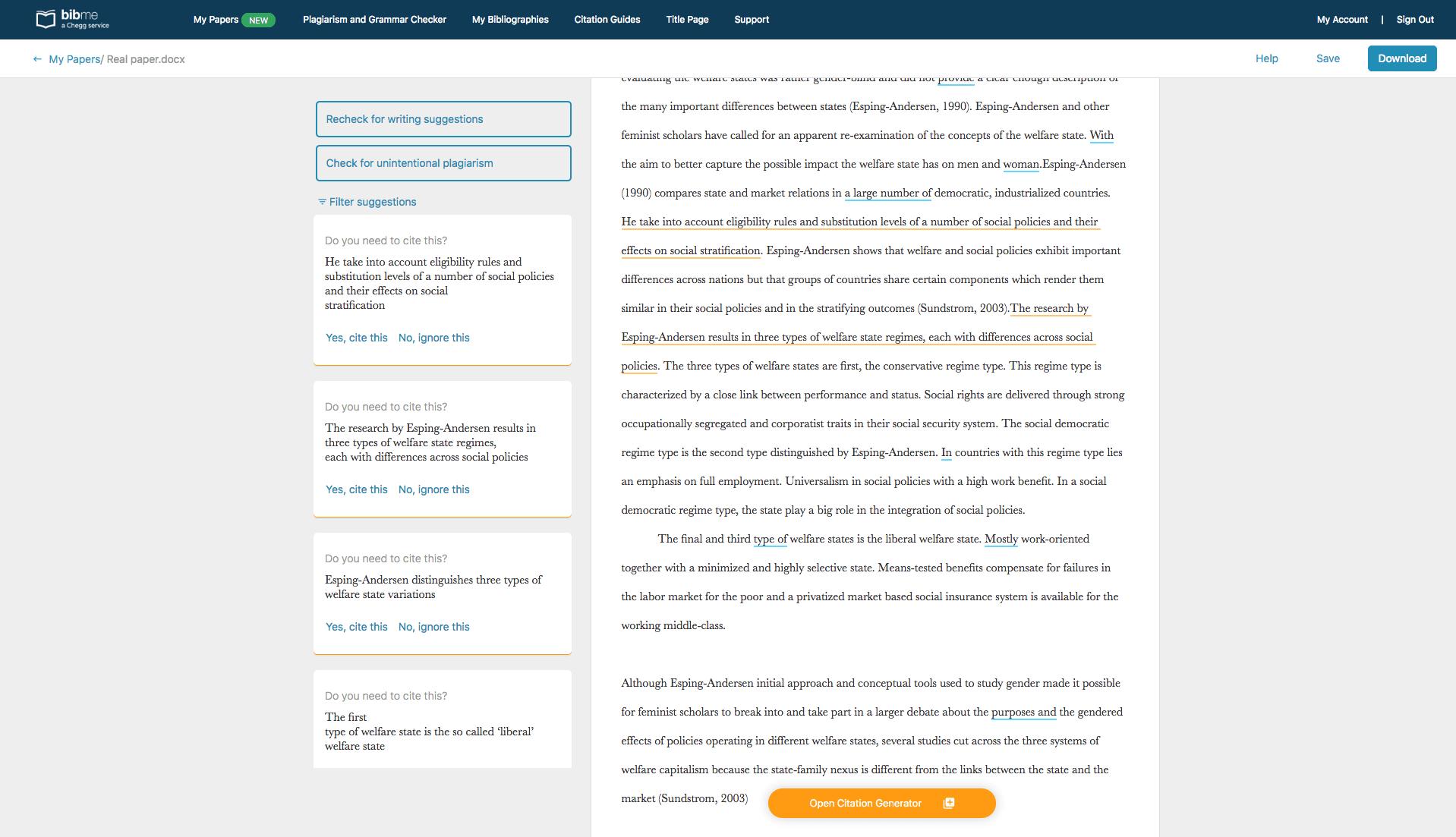 BibMe Plagiarism Checker report