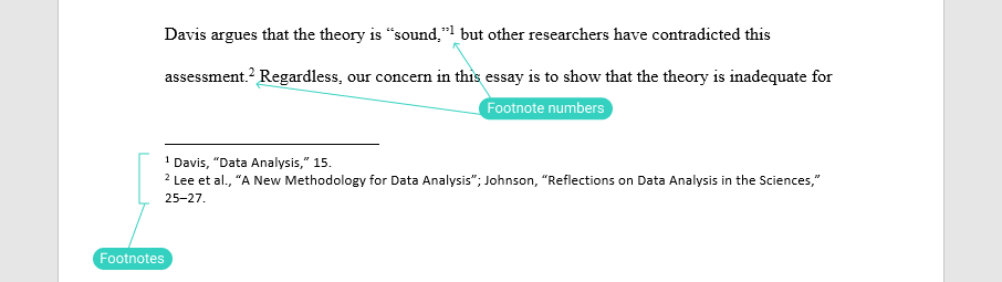 Footnote format