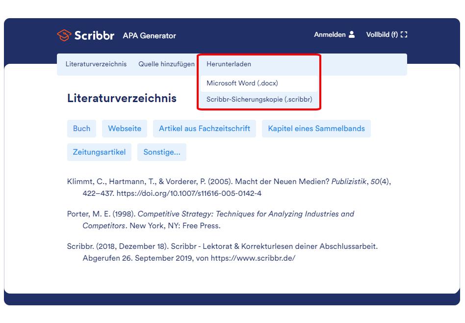 literaturverzeichnis-word-erstellen-apa-generator-scribbr