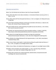 literaturverzeichnis seminararbeit deutsche zitierweise