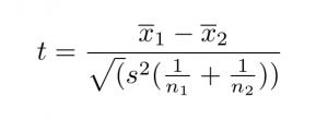 T-test formula