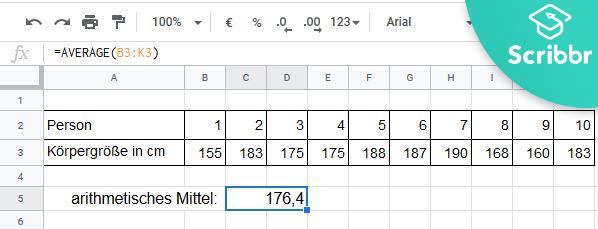 arithmetisches-mittel-excel