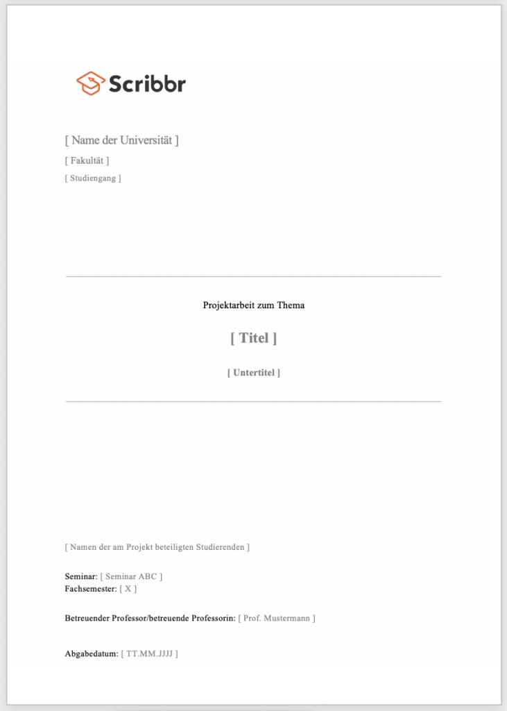 projektarbeit-deckblatt-beispiel