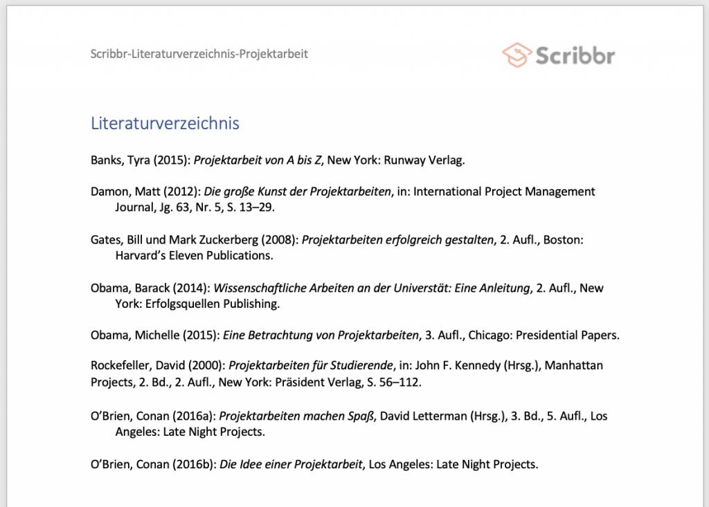 projektarbeit-literaturverzeichnis-beispiel