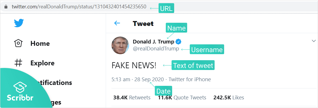 Tweet source info