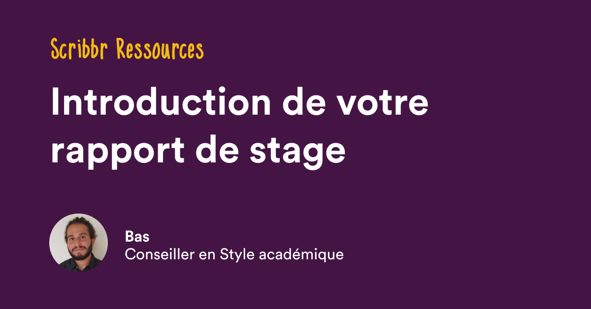 Introduction De Rapport De Stage Structure Exemples
