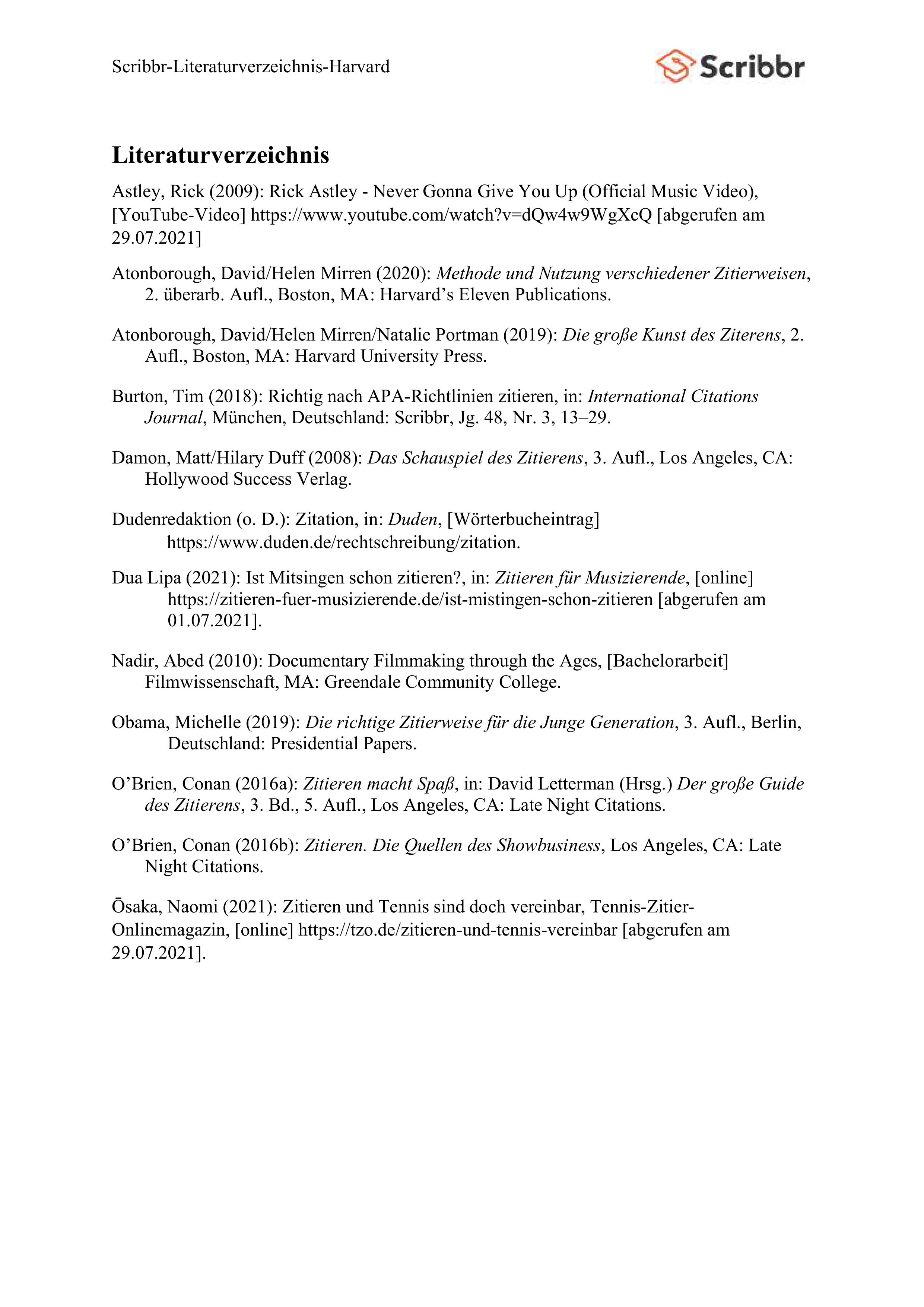 literaturverzeichnis-harvard-vorschau
