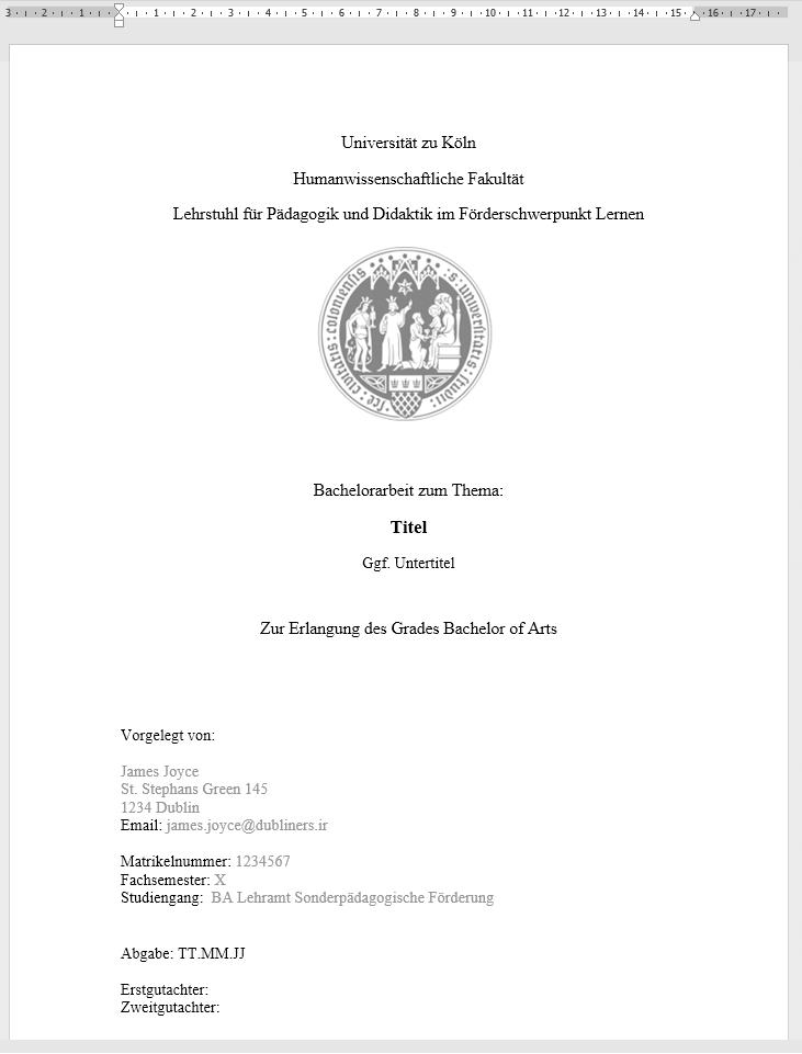 Bachelorarbeit Und Masterarbeit Beispiele Als Pdf 10