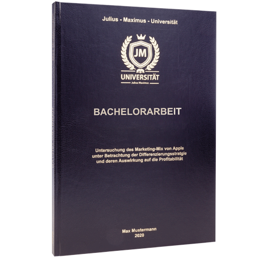 Bachelorarbeit drucken Standard Hardcover