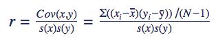 Formule correlatie