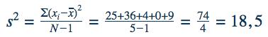Formule variantie berekenen