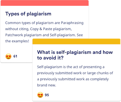 Plagiarism Knowledge Base articles