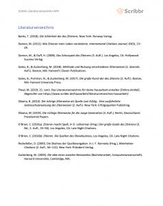 literaturverzeichnis seminararbeit apa