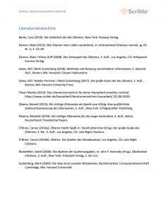 literaturverzeichnis seminararbeit harvard
