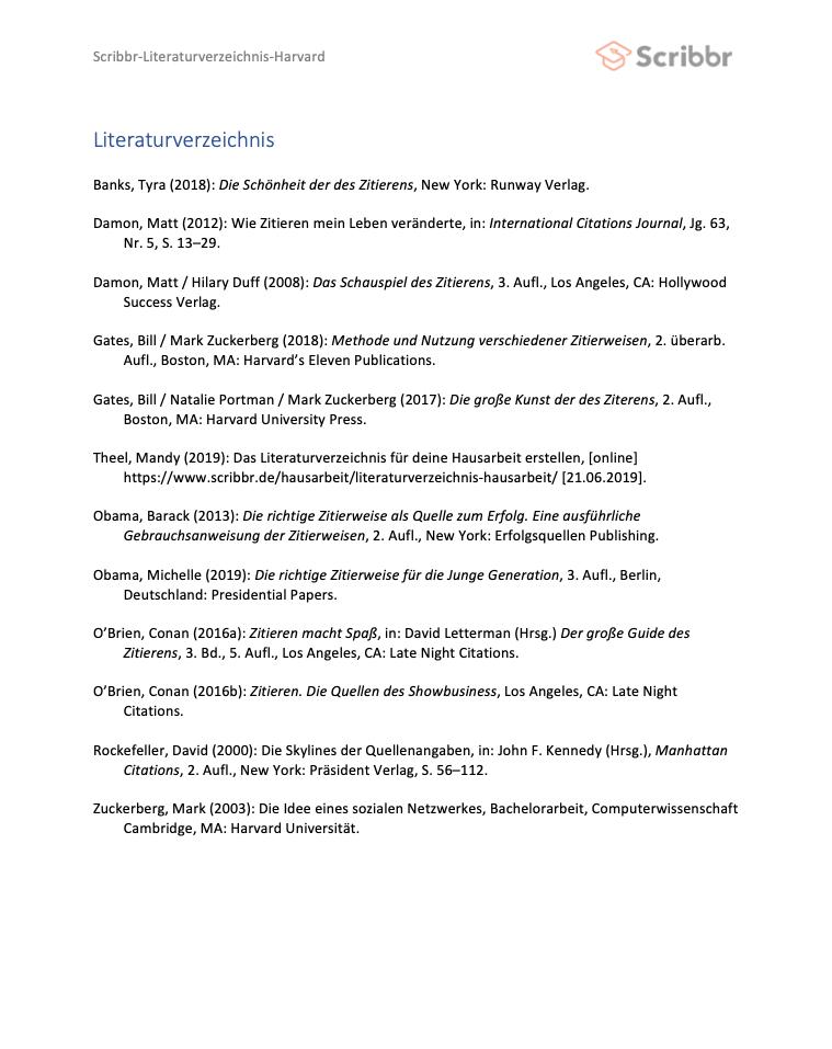 literaturverzeichnis seminararbeit