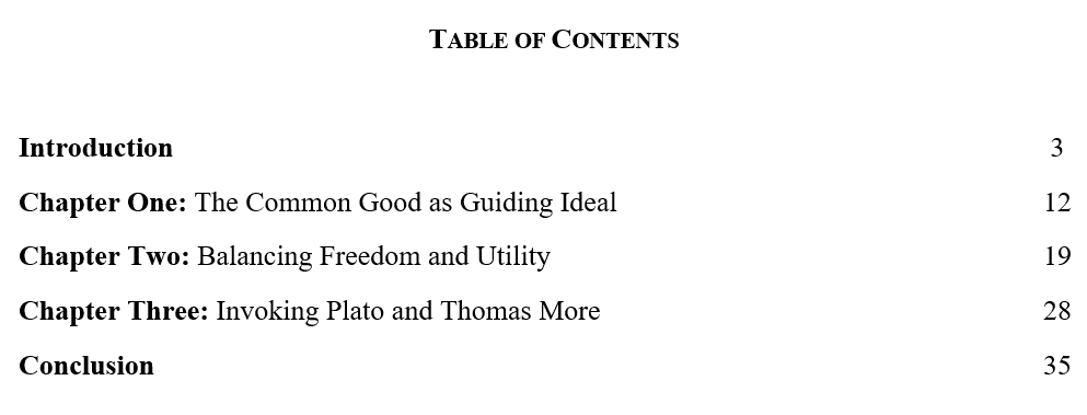 Dissertation ma structure