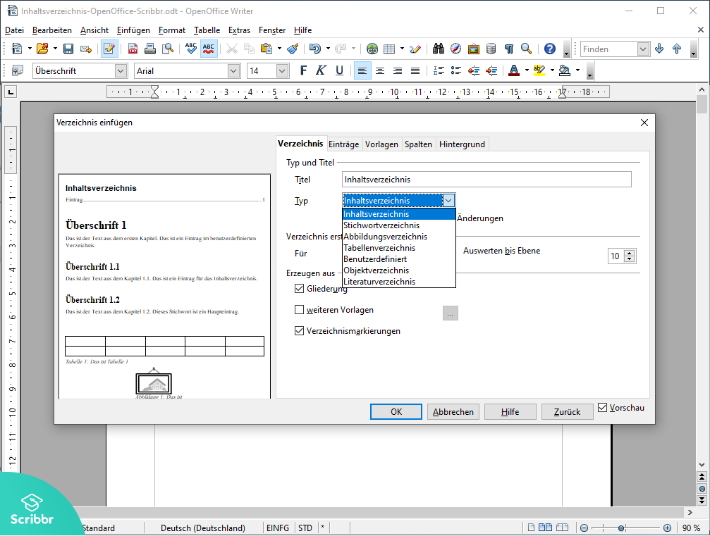Inhaltsverzeichnis-OpenOffice-einfuegen-Scribbr