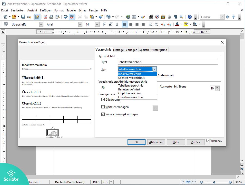 Inhaltsverzeichnis-OpenOffice-Verzeichnis-auswaehlen-Scribbr