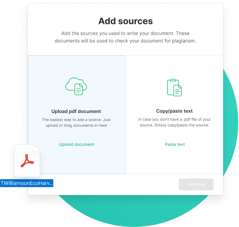 Own sources checker upload sources
