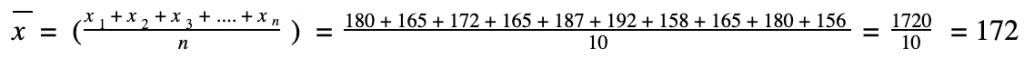 arithmetisches mittel beispielrechnung