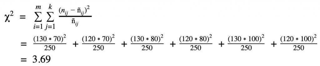 chi quadrat beispielrechnung