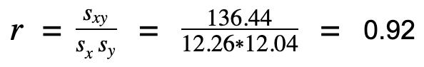 korrelationskoeffizient beispielrechnung