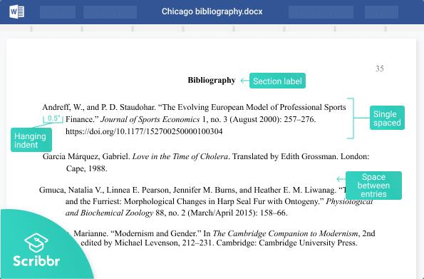 Chicago bibliography