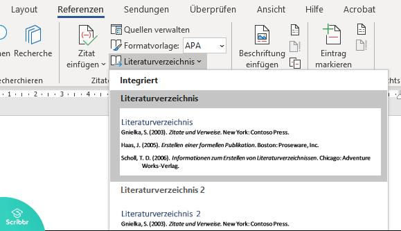 literaturverzeichnis-einfügen-word-scribbr