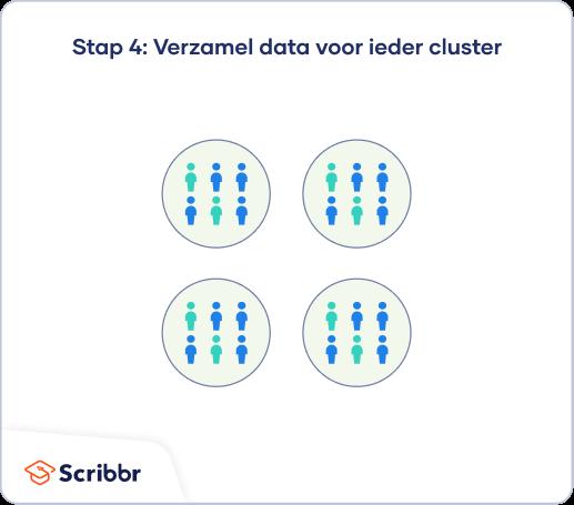 Vervolgens voer je je onderzoek uit en verzamel je data van de geselecteerde clusters.